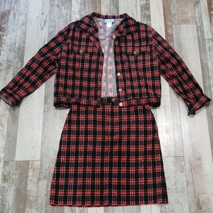 Pendleton plaid skirt and jacket set size medium